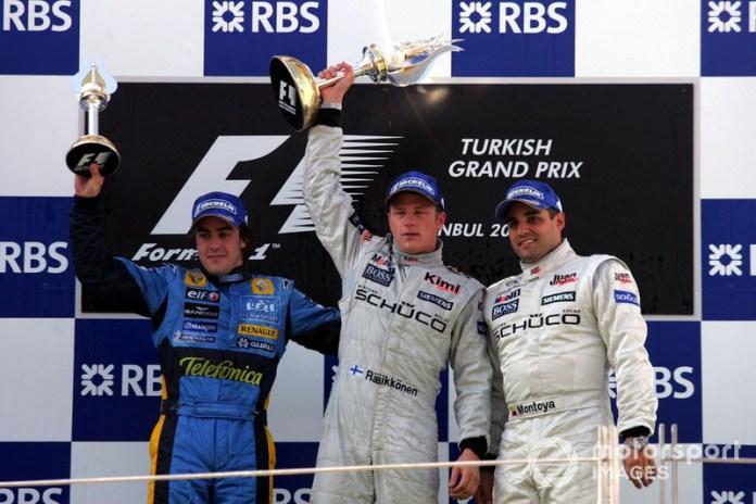19- Fernando Alonso, 2º en el GP de Turquía 2005 con Renault