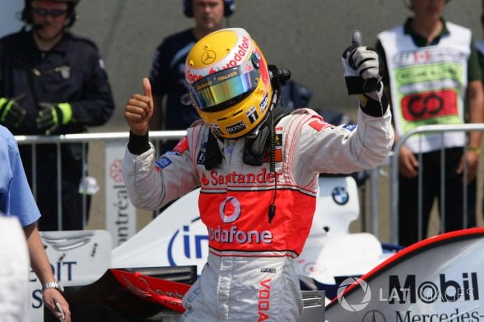 6- Lewis Hamilton, 22 años, 5 meses y 3 días en el GP de Canadá 2007