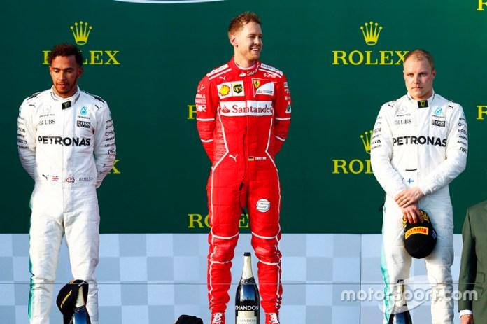 Australia 2017: Tras un 2016 sin victorias Vettel inicia liderando el mundial con su triunfo en Albert Park.