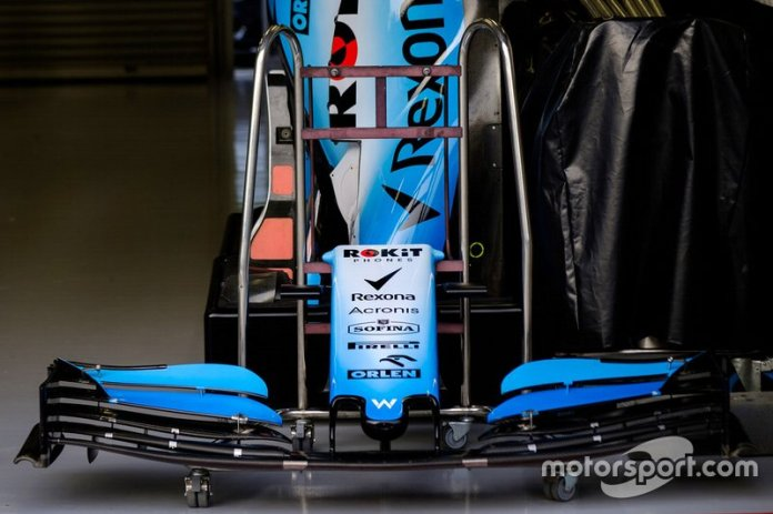 The front wing of the Williams FW42