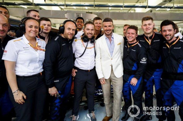 David Beckham con el McLaren team