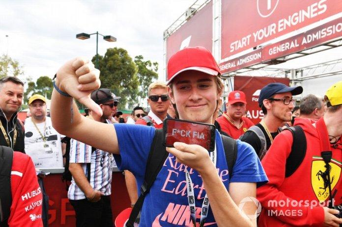 Fans enojados con un mensaje para la FIA por cancelar la carrera
