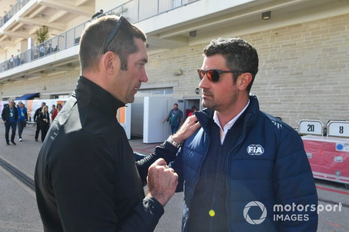 Max Papis y Michael Masi, Director de la carrera