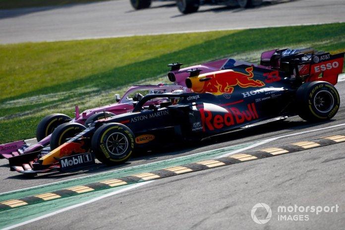 Sergio Pérez, Racing Point RP20, Max Verstappen, Red Bull Racing RB16