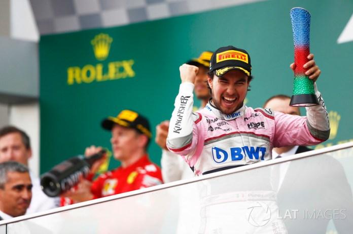 Sergio Perez sumó su octavo podio en la Fórmula 1 en el Gran Premio de Azerbaiyán de 2018, batiendo la marca de Pedro Rodríguez para un piloto mexicano, vigente desde la década del setenta.