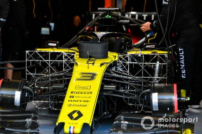 Sensores instalados en el coche de Daniel Ricciardo, Renault F1 Team R.S.19