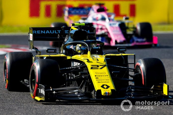 Nico Hulkenberg, Renault F1 Team R.S. 19, Sergio Perez, Racing Point RP19