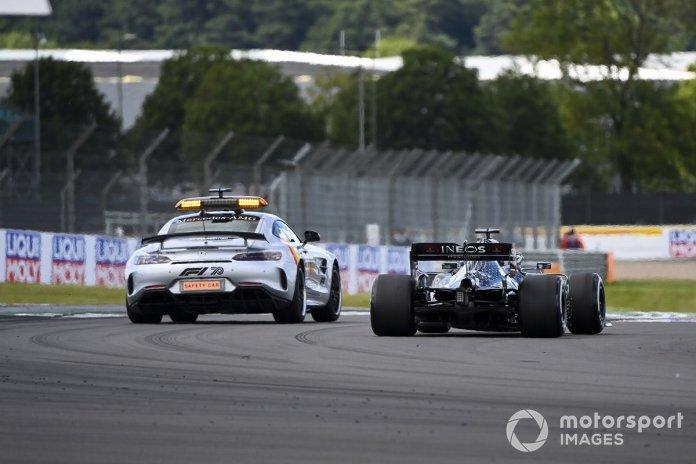 Safety Car y Lewis Hamilton, Mercedes F1 W11