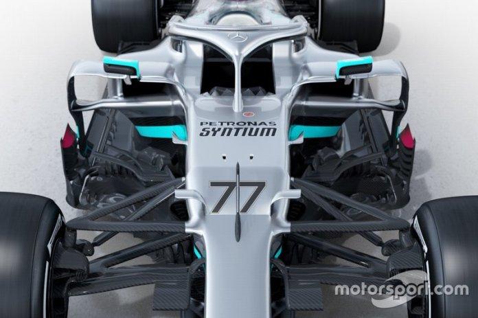 Detalle del Mercedes AMG F1 W11