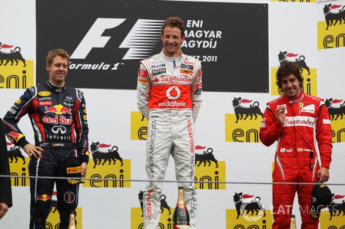 71- Fernando Alonso, 3º en el GP de Hungría 2011 con Ferrari