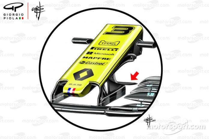 La nariz del Renault F1 Team R.S.19
