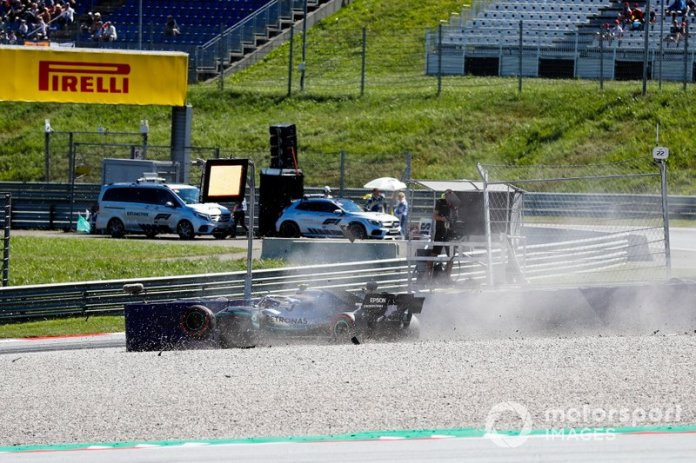El coche de Valtteri Bottas, Mercedes AMG W10