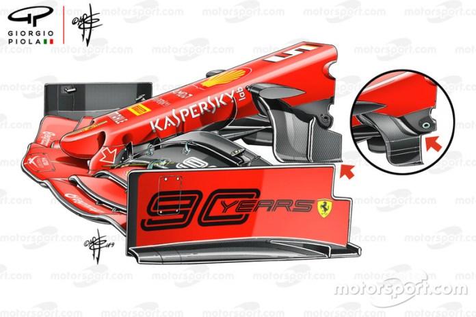 Nariz del Ferrari SF90