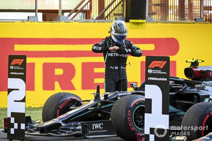 Segundo lugar Valtteri Bottas, Mercedes-AMG F1