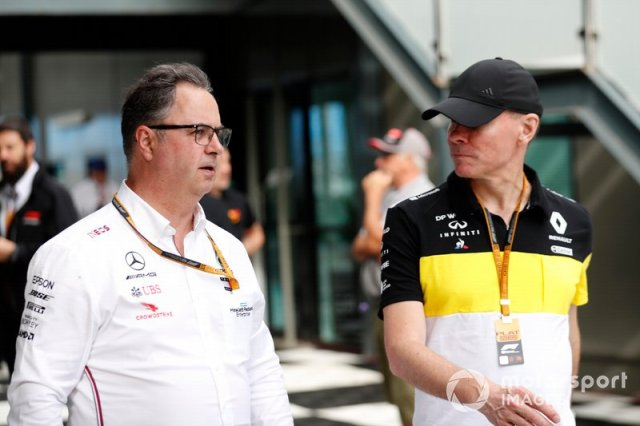 Ron Meadows, Sporting Director, Mercedes AMG, and Alan Permane, Sporting Director, Renault Sport F1 Team