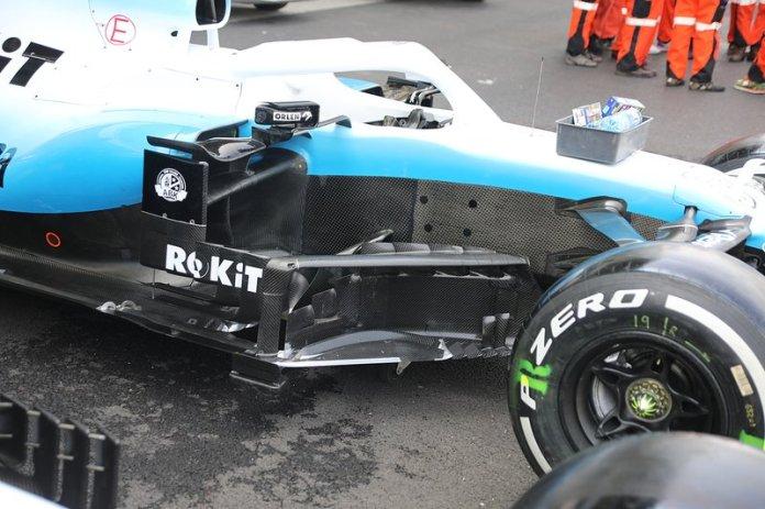 Williams Racing FW42, bargeboard