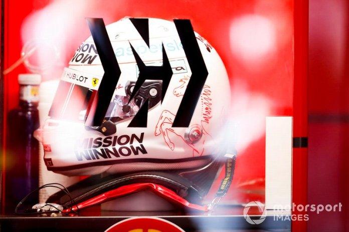 Helmet of Sebastien Vettel, Ferrari
