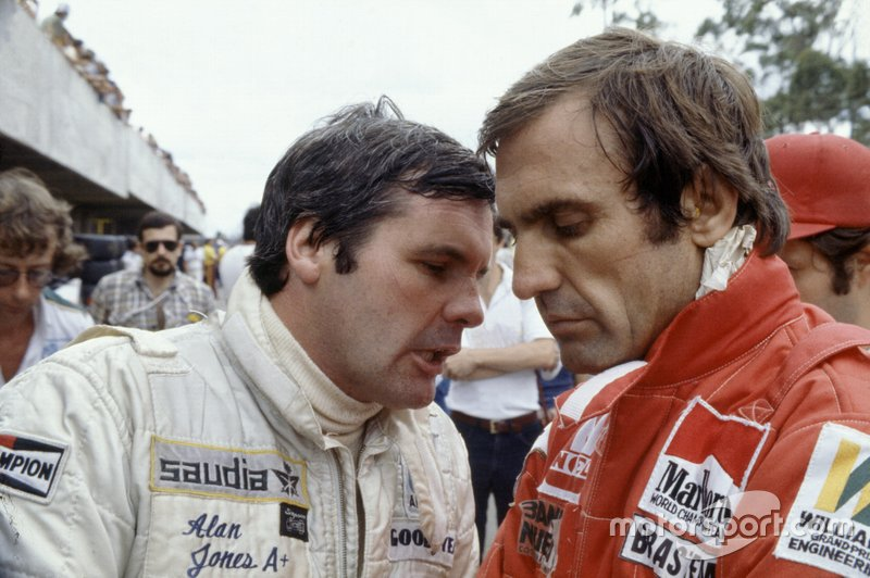 Alan Jones, Williams, and teammate Carlos Reutemann