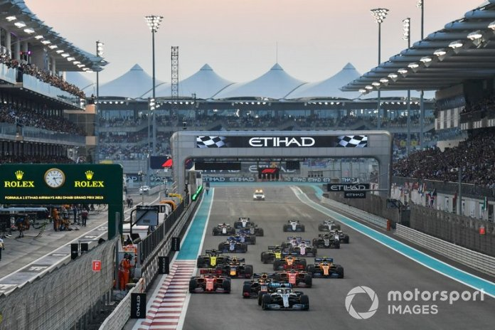 Lewis Hamilton, Mercedes AMG F1 W10, Max Verstappen, Red Bull Racing RB15, Charles Leclerc, Ferrari SF90, Sebastian Vettel, Ferrari SF90, Alexander Albon, Red Bull RB15, Lando Norris, McLaren MCL34
