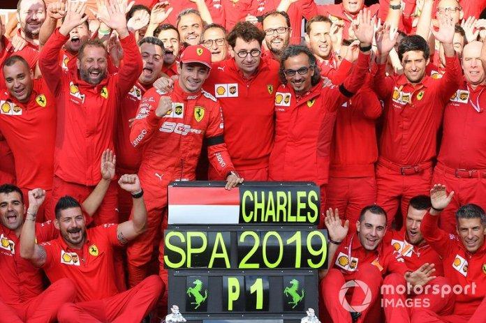Charles Leclerc se convirtió en el Gran Premio de Bélgica 2019 en el más joven ganador en la historia de la Scuderia Ferrari con 21 años 10 meses y 16 días.