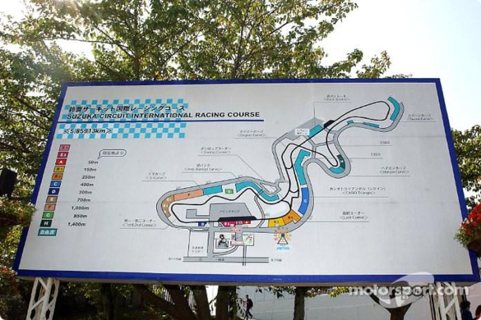 Suzuka es la única pista de todo el calendario de la F1 con la primera mitad del circuito en sentido contrario a las agujas del reloj y la segunda mitad en sentido horario.