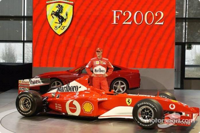 Presentación de la Ferrari F2002 de 2002