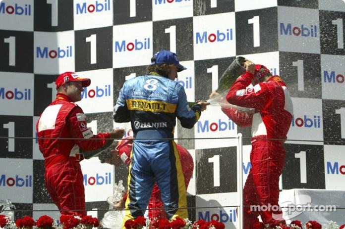 7- Fernando Alonso, 2º en el GP de Francia 2004 con Renault