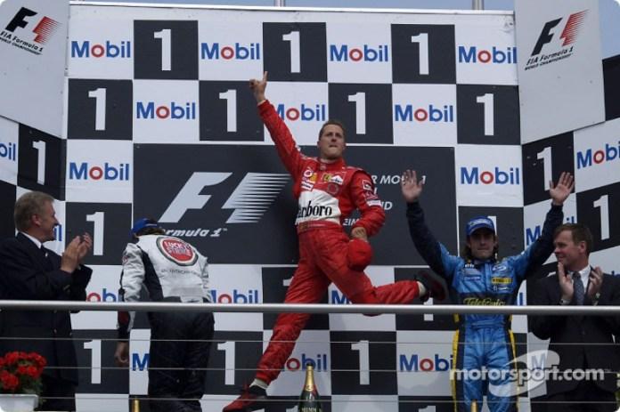 8- Fernando Alonso, 3º en el GP de Alemania 2004 con Renault