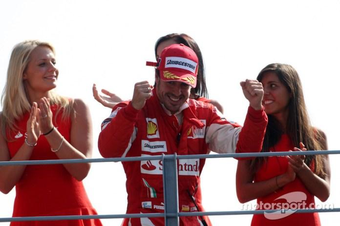 61- Fernando Alonso, 1º en el GP de Italia 2010 con Ferrari