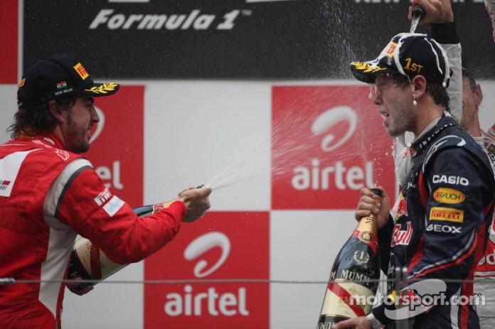 74- Fernando Alonso, 2º en el GP de India 2011 con Ferrari