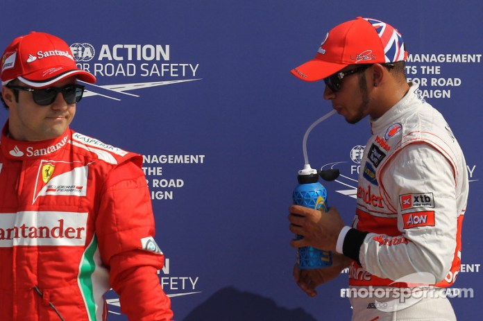 Massa y Hamilton en Monza 2012
