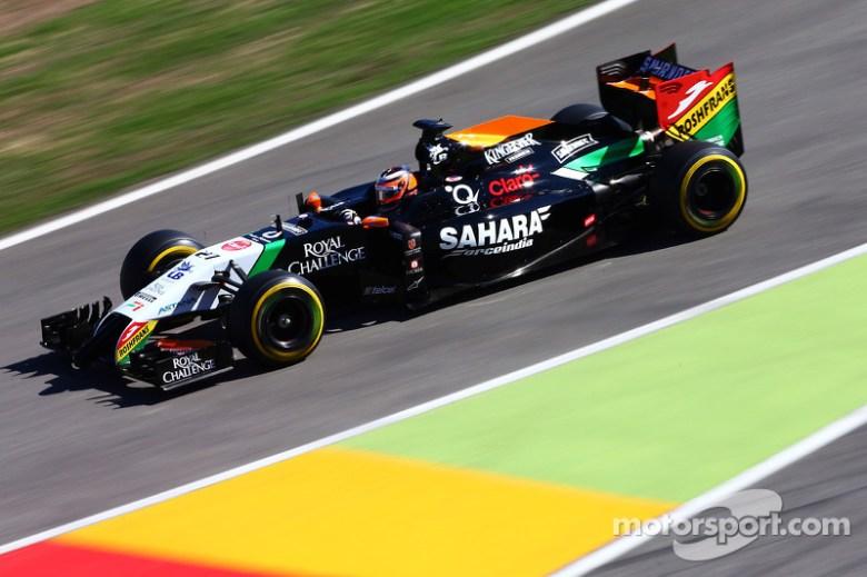 Nico Hulkenberg, Sahara Force India F1 VJM07 at German GP