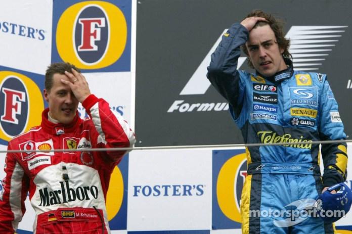 13- Fernando Alonso, 1º en el GP de San Marino 2005 con Renault