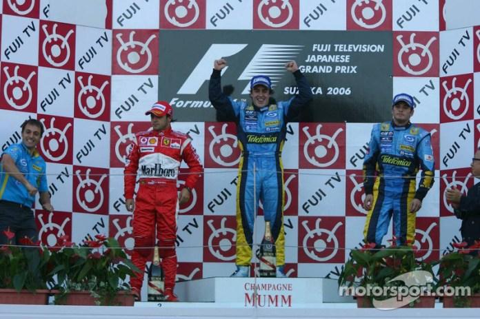 38- Fernando Alonso, 1º en el GP de Japón 2006 con Renault