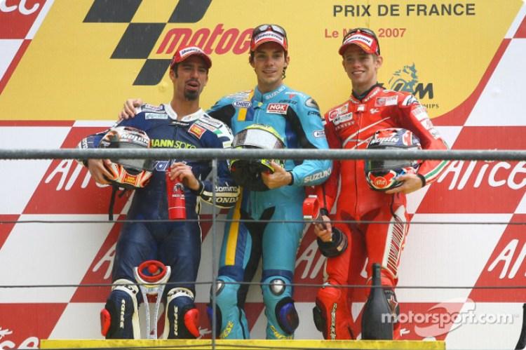 Risultato immagini per podio le mans 2007 motogp