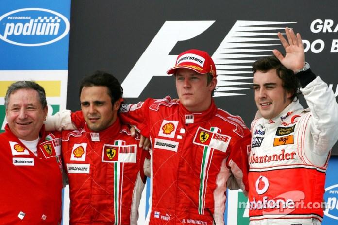 51- Fernando Alonso, 3º en el GP de Brasil 2007 con McLaren