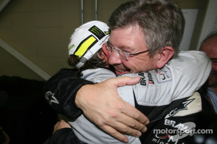 Jenson Button, Brawn GP y Ross Brawn director del equipo Brawn GP