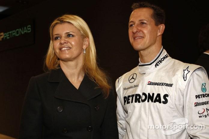 Michael Schumacher consu esposa Corina