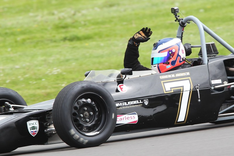 Cam Jackson was again the driver to beat in Historic Formula Ford 1600