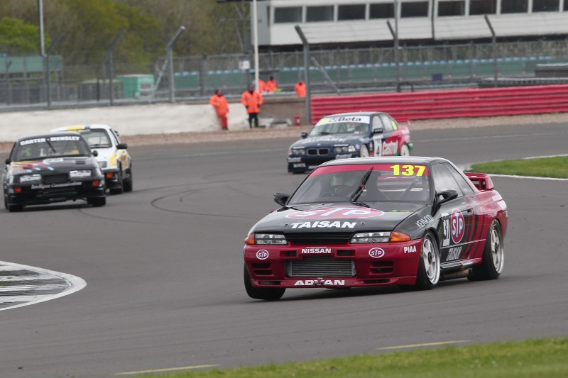 The Nissan of Simon Garrad defeated the Ford Sierra Cosworths