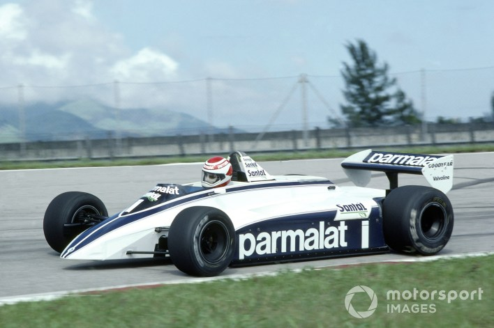 1982 Brazilian Grand Prix. Rio de Janeiro, Brazil. 19-21 March 1982. Nelson Piquet (Brabham BT49D-Ford Cosworth), disqualified