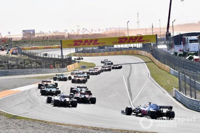 2021 F1 Dutch GP race start