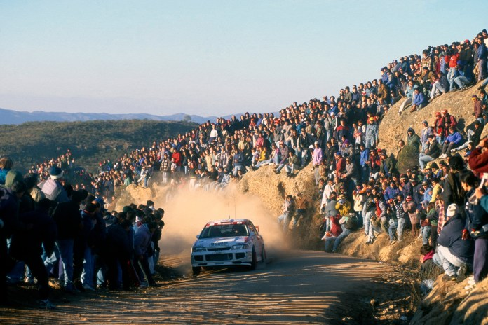 The Acropolis was one of only two rallies in 1996 where Makinen finished and didn't win. Here, he took second to McRae