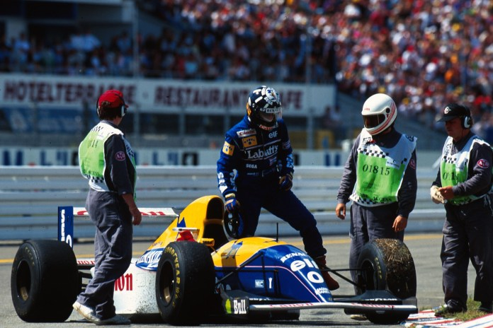Hill was denied by a puncture on the penultimate lap at Hockenheim, denied for a second race in succession