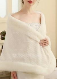 Faux Fur Wedding Shawl (013149888) - Wraps - JJsHouse