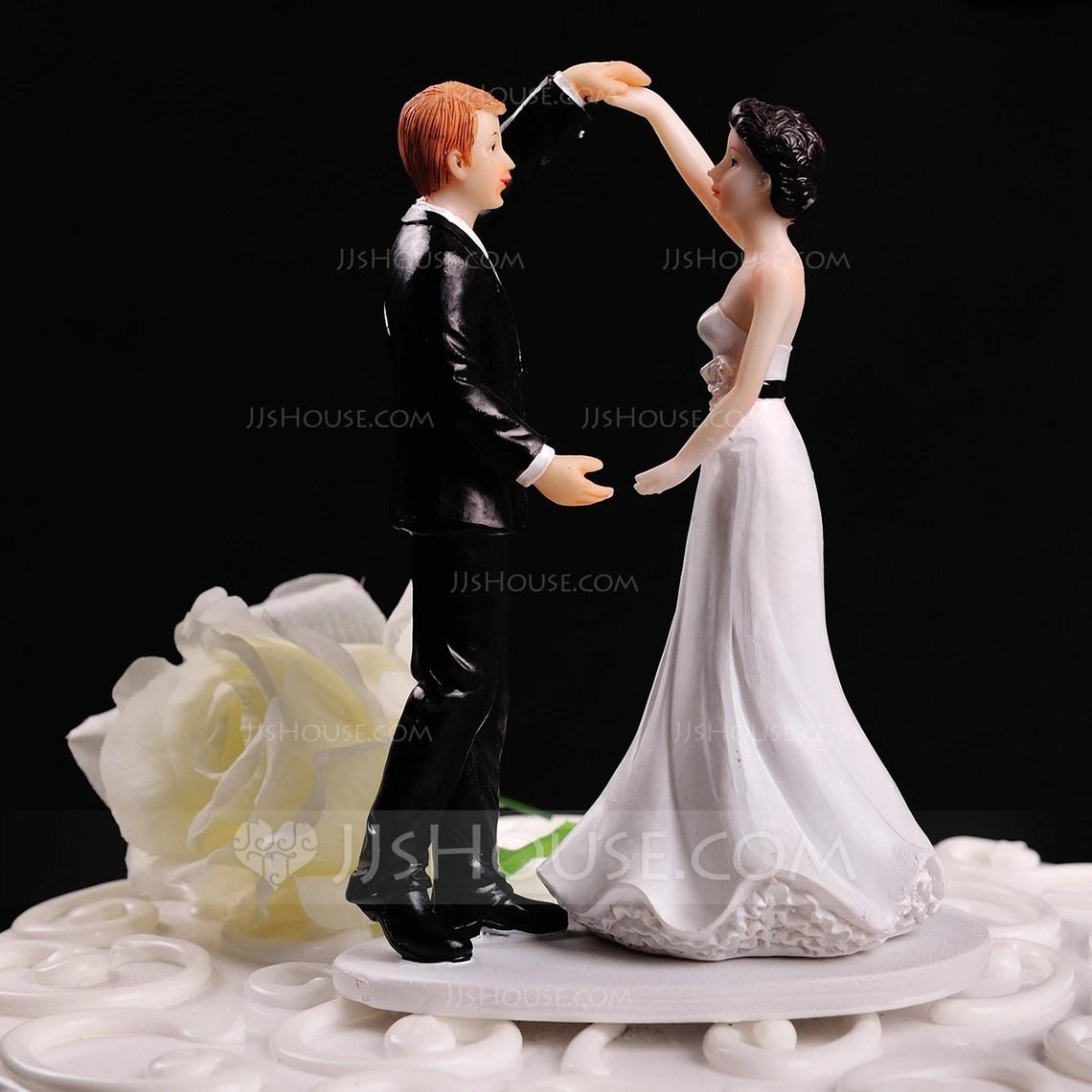 Figurine Dancing Couple Resin Wedding Cake Topper