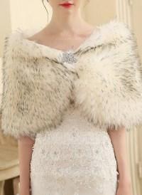 Faux Fur Wedding Shawl (013149893) - Wraps - JJsHouse