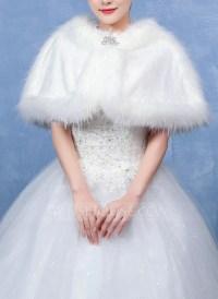 Faux Fur Wedding Shawl (013096703) - Wraps - JJsHouse