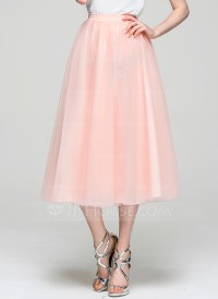 A-Line/Princess Tea-Length Tulle Cocktail Skirt - Cocktail ...