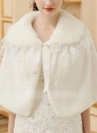 Faux Fur Wedding Shawl (013149942) - Wraps - JJsHouse
